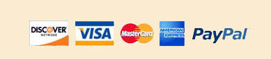 Bucks County Honey Accepts Visa, MasterCard, Discover, American Express, and PayPal