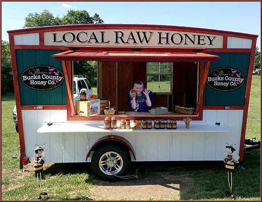 Bucks County Local Raw Honey Trailer